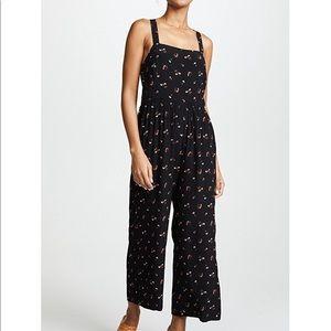 Madewell smocked crop jumpsuit